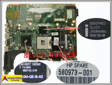 original Motherboard 580973-001 for HP DV7 laptop motherboard PM55 with NVIDIA Graphics card DDR3 100% Test ok