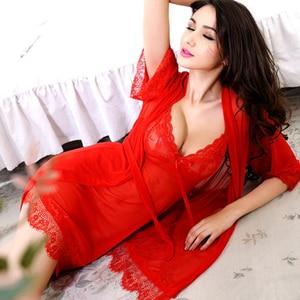 Image 2 - 2017 Date Sexy Lingerie Pour Les Femmes Sexy sous vêtements Dames Dentelle Transparent Érotique Lingerie Conjoint Robe Costume Livraison Gratuite