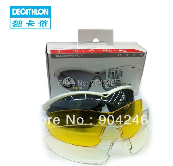 ba9a2a8646 Freeshipping DECATHLON Male weatherproof outdoor riding glasses  interchangeable lens mountain bike bicycle glasses ORAO