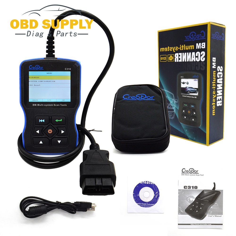 Creator C310 V6.1 OBDII BM-Multi-System Code Reader Scanner For BMW Scan Tool