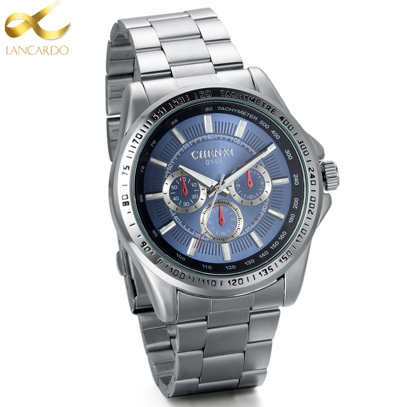 Lancardo Watch Men Luxury Brand Stainless Steel Business Quartz Watch Men Casual Quartz-watch Relogio Masculino Clock Male Japan new lancardo luxury brand men gold watches men quartz watch stainless steel men fashion casual wrist watch relogio masculino