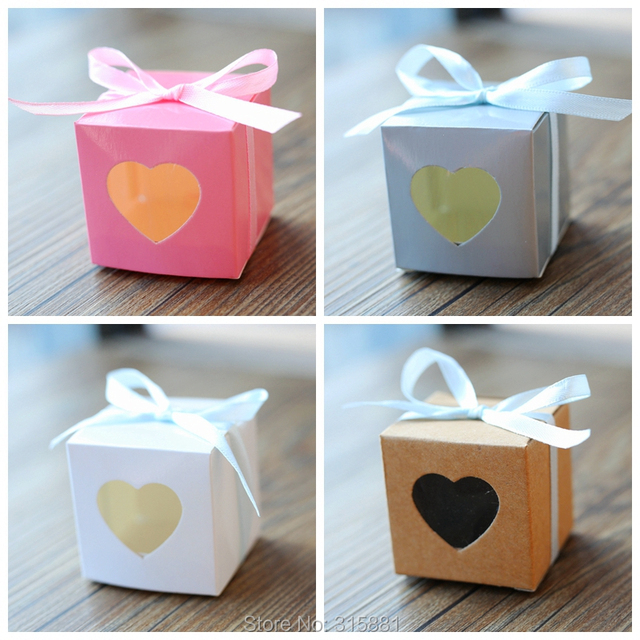 Heart Window Wedding Candy Box Paper Boxcandy Boxwedding Favor