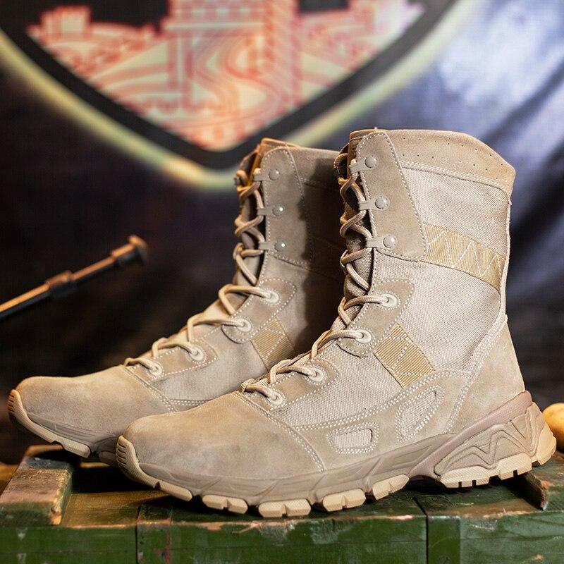 Bottes d'entraînement tactiques militaires de haute qualité pour hommes bottes décontractées antidérapantes pour hommes