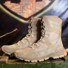 a7282d014dec2 Wysokiej jakości mężczyźni Military Tactical Buty treningowe męskie buty  casual antypoślizgowe buty wojskowe mężczyźni projektant krowa
