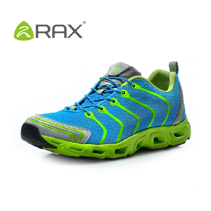 RAX brand men hiking shoes breathable mesh mountain climbing shoes slip resistant rubber outdoor walking slhoe size 39-44 #B2032 new 2017 brand men spring autumn outdoor climbing shoes couple climbing hiking lace up rubber breathable shoes 8037