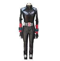 2018 Captain America 2 Avengers Black Widow Natasha Romanoff Cosplay Costume Women Tight Sexy Black Leather Full Suit Costume