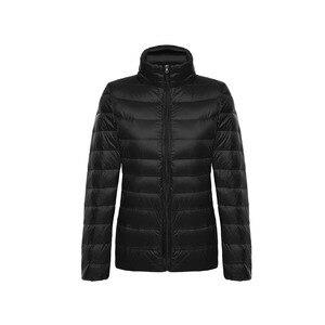 Image 4 - Vestes en duvet de canard pour femmes, Ultra léger, 5XL et 6XL, manteau chaud à manches longues pour femmes, manteau dhiver, vêtements dextérieur automne