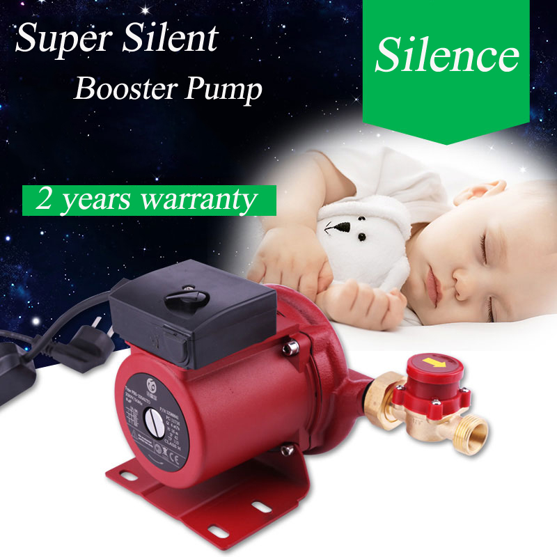 120W Shower Booster Water Pump Mini Water Pressure Booster Pump For Home 60L/min Silence Shower Booster Pump