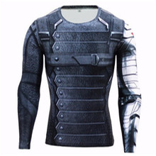 3D Winter Soldier Avengers 3 Compression Shirt Men Long Sleeve Fitness Crossfit T Shirts Male Clothing