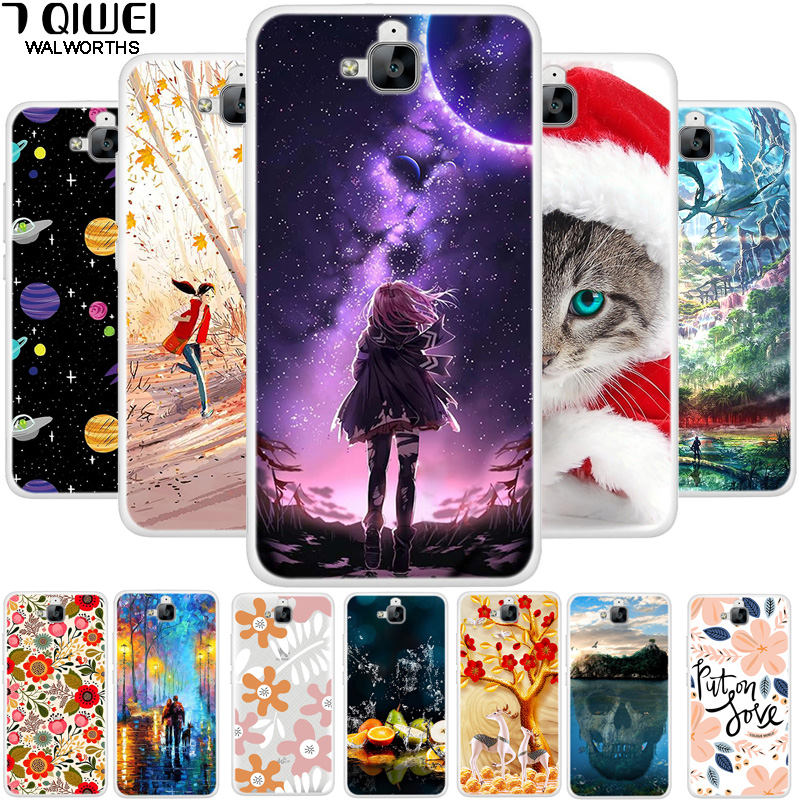 5.0'' For Huawei Honor 4C Pro Case Soft TPU Painting Silicone For Funda Huawei Y6 Pro Case Cover 4 C 4CPRO Y 6 Y6Pro Thin Para