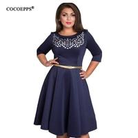 2016 NEW Fashionable Elegant Women Dresses Big Sizes Plus Size Women Clothing L 6xl Dress Casual