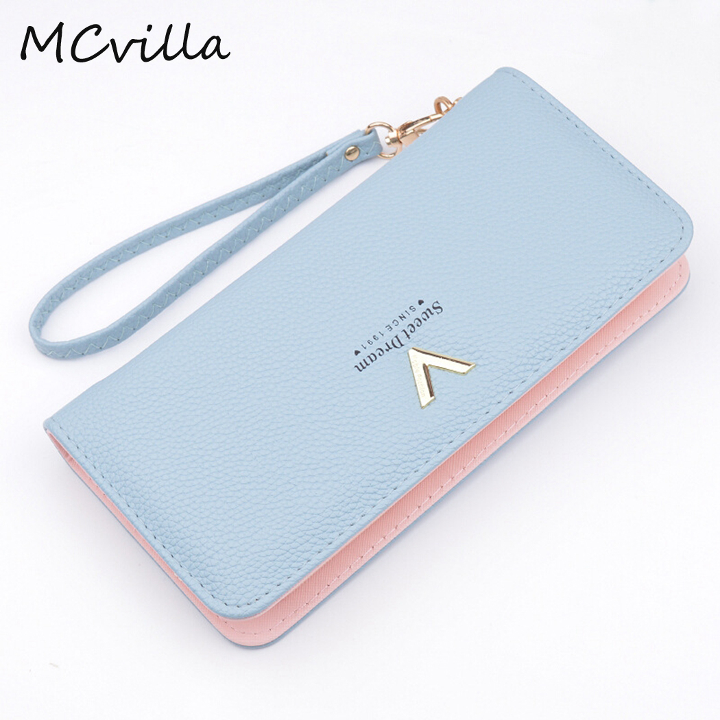 New Ladies Purses Female Leather Wallets Women Long Zipper Purse Woman Wallet Card Holder Clutch femme High Quality Brand new fashion women leather wallet deer head hasp clutch card holder purse zero wallet bag ladies casual long design wallets