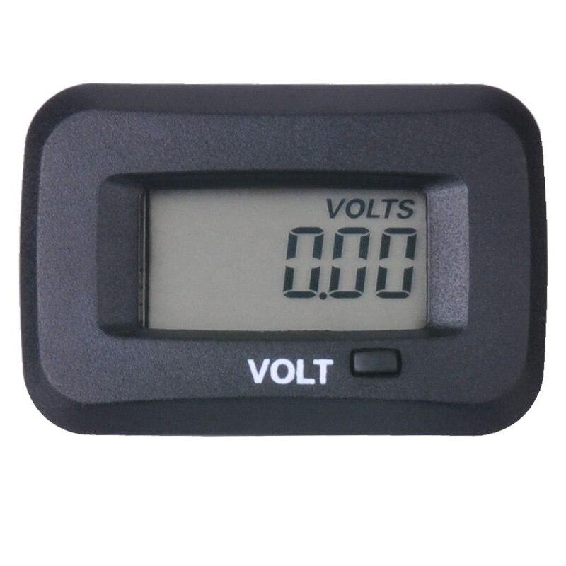 Digital LCD voltmeter voltage meter gauge For generator robot milking ATV Boat Tractor TRIMMER Marine sprayers chipper