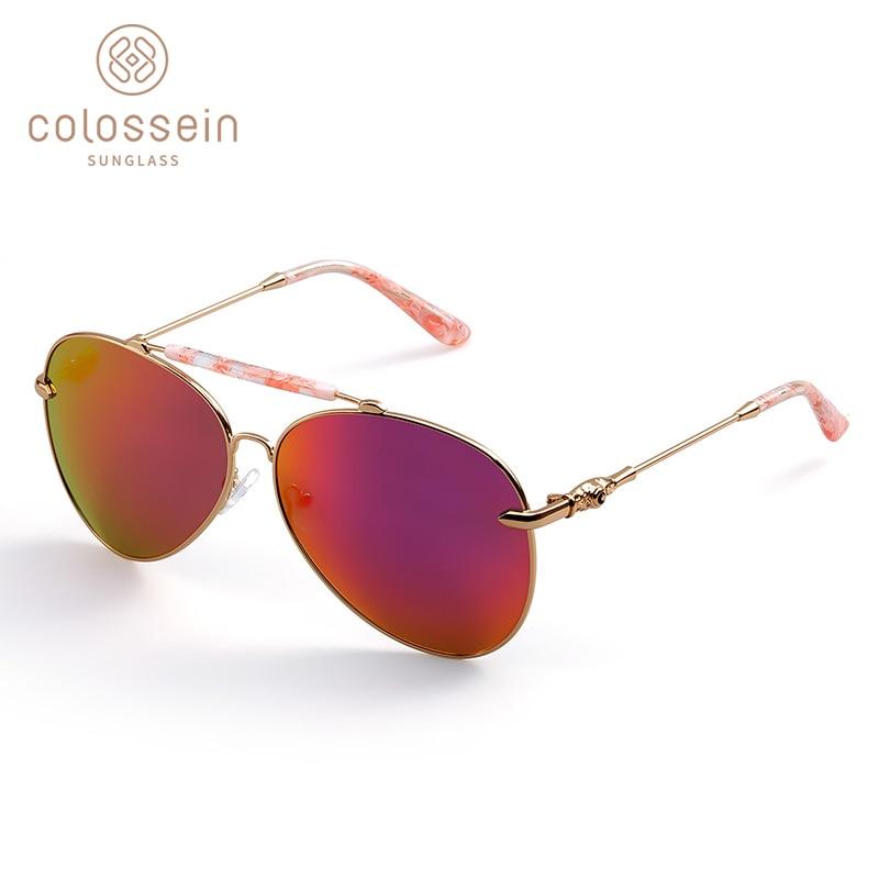 COLOSSEIN lielgabarīta saulesbrilles sievietēm Vintage ovāla - Apģērba piederumi - Foto 4