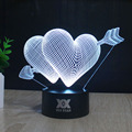 HY No.196-210 Remote Control 7 Colors Changing Night Lights 3D LED Desk Table Lamp Home Decoration For Gifts