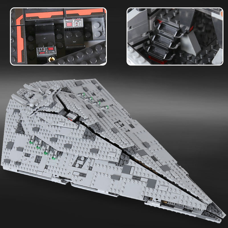 05131 1585Pcs Star Plan Series The First order Star Model Destroyer Set 75190 Building Blocks Bricks for Educational Toys