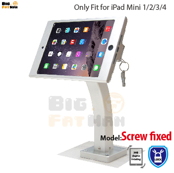 fit for ipad mini wall mount aluminum metal case bracket security display kiosk pos with