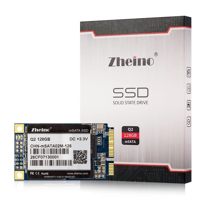 Zheino Q2 SATA Mini PCIE mSATA 128GB SSD Internal Solid State Drive MLC 128M Cache SATA3 HARD DRIVE For Table PC Laptop Notebook new msata ssd solid state hard drive 32g mini pci e ssd hard drive