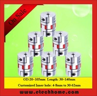 Motor Jaw Shaft Coupler D45L66 Claw Type Flexible Coupling Inner Hole 10 25mm For CNC Stepper