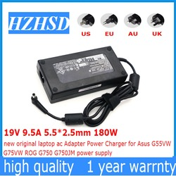 19 V 9.5A 5.5*2.5mm 180 W nowy oryginalny laptop adapter AC ładowarka zasilania dla Asus G55VW G75VW ROG g750 G750JM zasilania|Adapter do laptopa|   -