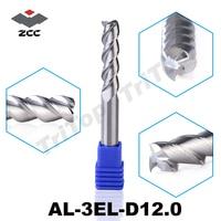 100 Guarantee Original ZCCCT AL 3EL D12 0 Solid Carbide 3 Flute Flattened End Mills With