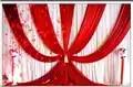 3x6 м (10ftx20ft) фонов Шторы Новый Дизайн Ice Шелковый красный свадебные справочный материал сцены декоративные Шторы Свадебные Шторы