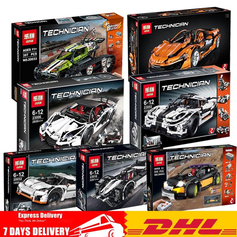 DHL Lepin Technique 20033 20052 20053 20087 23002 23006 23018 Blocs Buillding les Briques Modèle Jouets Clone Legoinglys 42065 42056 5530