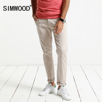SIMWOOD 2017 Autumn Winter New Causal Pants Men Slim Fit Plus Size High Quality Trousers High