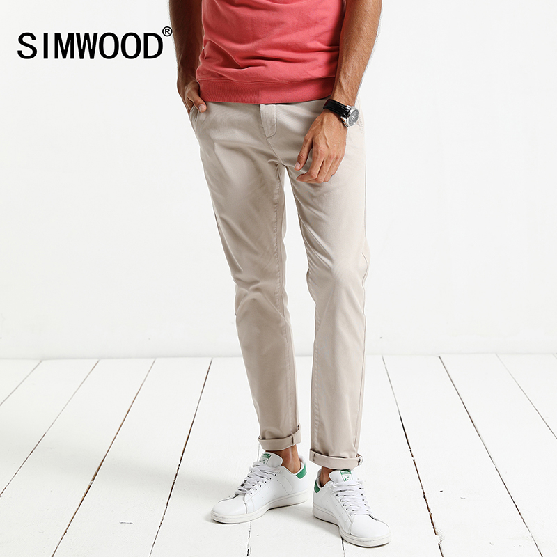SIMWOOD 2018 Spring Winter New Causal Pants Men Slim Fit Plus Size High Quality Trousers High Quality Brand Clothing XC017006 2017jeans men new arrival brand clothing blue slim fit casual stretch denim pants high quality plus size free shipping
