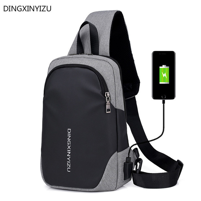 34feb09450ad US $11.79 41% OFF|Anti theft USB Charging Chest Bag For Men Sling Shoulder  Bag Casual Male Crossbody Bags Waterproof Travel Pack Bolsa Feminina -in ...