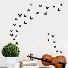 Butterfly Wall Sticker For Kids Room DIY Butterfly Decor 29Pcs Butterfly Sticker On The Wall Muursticker Bedroom Art Wall decor(China)