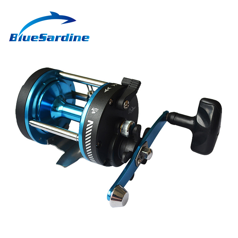 5BB 3.8:1 Drum Fishing Reel Left Right Hand Baitcasting Boat Bait Casting Reel Trolling Cast Drum Wheel Surfcasting Tackle trolling reel 9 1bb drum wheel carp baitcasting reels centrifugal brake casting saltwater fishing reel super power drag 30kg