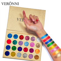 In Stock Original Brand VERONNI Cosmetics Eyes Makeup Palette Eyeshadow 24 Colors Glitter Powder Eyeshadow Palettes