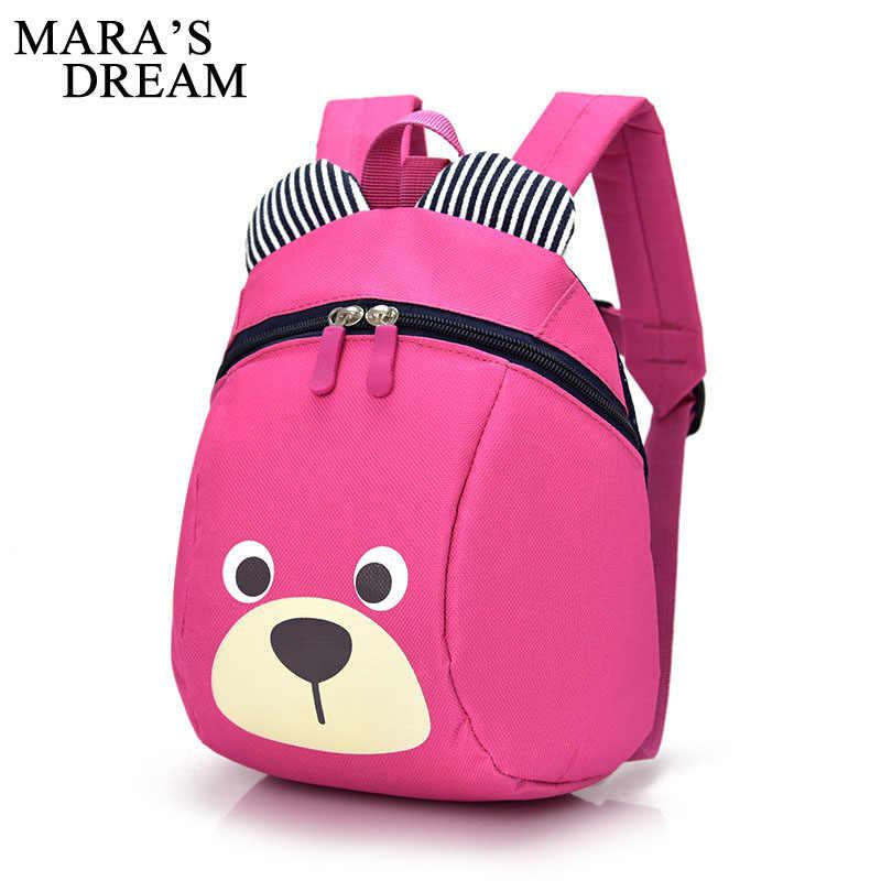 2f638e9896 ... Mara s Dream Cute Bear Anti Lost Backpack For Kids Children Backpack  Animal Kindergarten School Bags For
