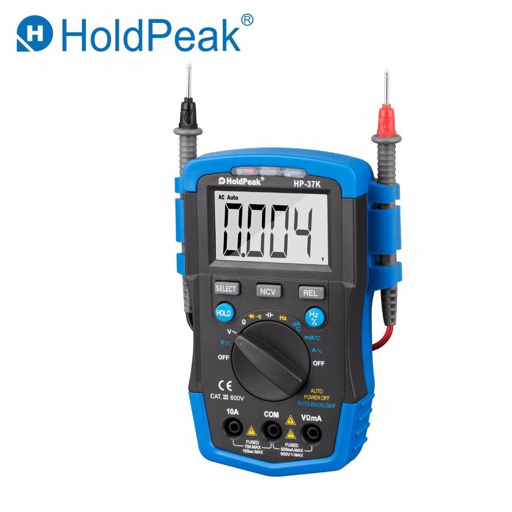 HoldPeak HP-37K Auto Range Digital Multimeter Resistance Capacitance Frequency Temperature Test