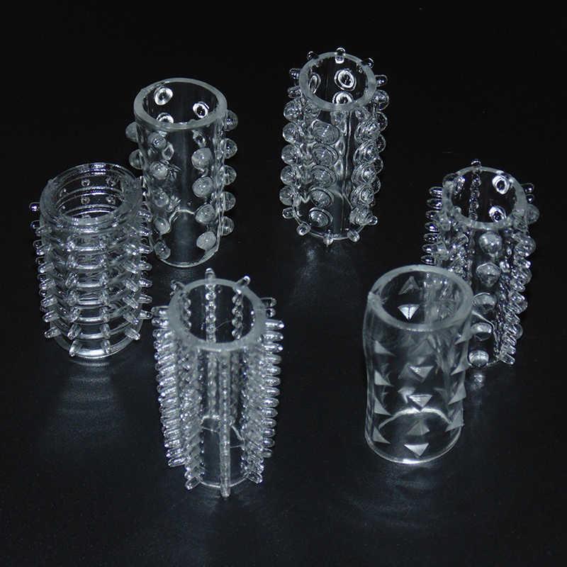 6 ชิ้นแพคเกจชายซิลิโคนล็อค Sperm ทนทานอวัยวะเพศชาย Cock แหวนผลิตภัณฑ์สำหรับผู้ใหญ่ของเล่น