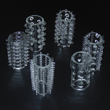 6 PCs Re-Washable Clear Acetate Cock Ring For Male