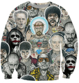2015 new Women Men Breaking Bad Inked Ikon Collage Tattoo Outerwear Harajuku 3d print Clothes  Sweatshirts