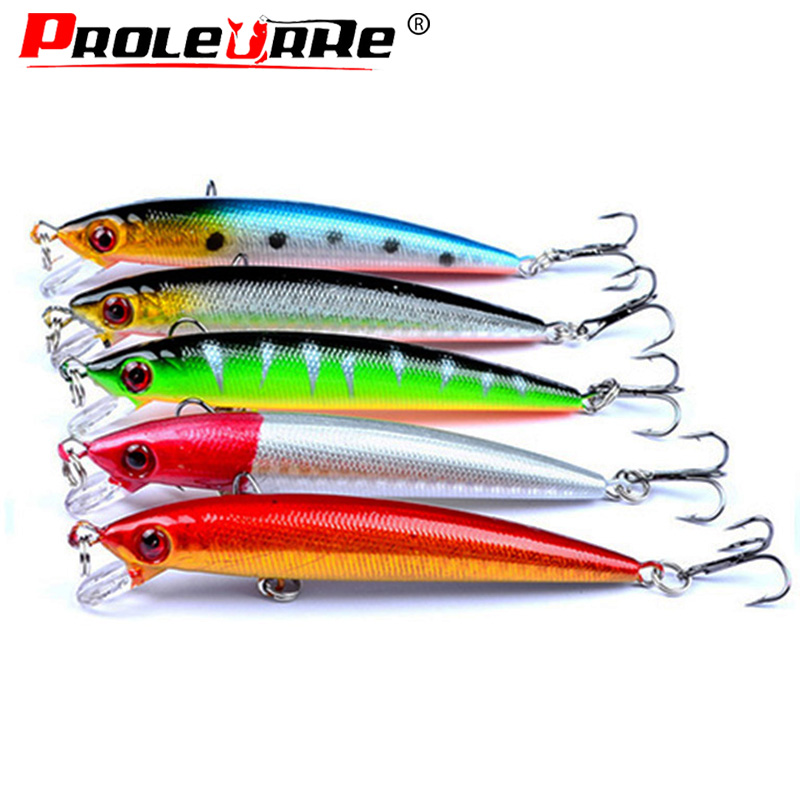 Proleurre Fishing Lure 9cm 5g Minnow Wobblers Swim Bait with Hooks Fishing Tackle Artificial Hard Bait Crankbait Fishing tackle new arrival outdoor mixed fishing lure set hard bait artificial lure kit wobblers minnow crankbait fishing tools 43 pcs lot