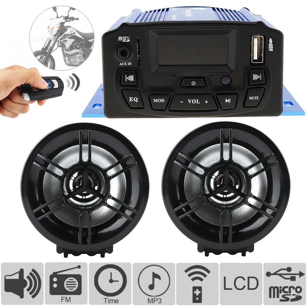 Anti-vol Alarme Audio Son LECTEUR De Musique MP3 Moto Anti-vol FM Radio USB Moteur Haut-Parleur Moto MP3 Système Audio