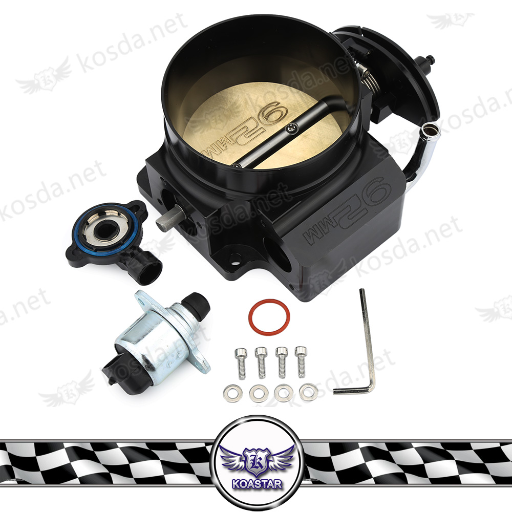 Black Aluminum 92mm Throttle Body with TPS Throttle Body Position Sensor For GM LS1 LS2 LS3 LS6 LSX TB1021S deawoo excavator throttle sensor dh stepper motor throttle position sensor excavator spare parts