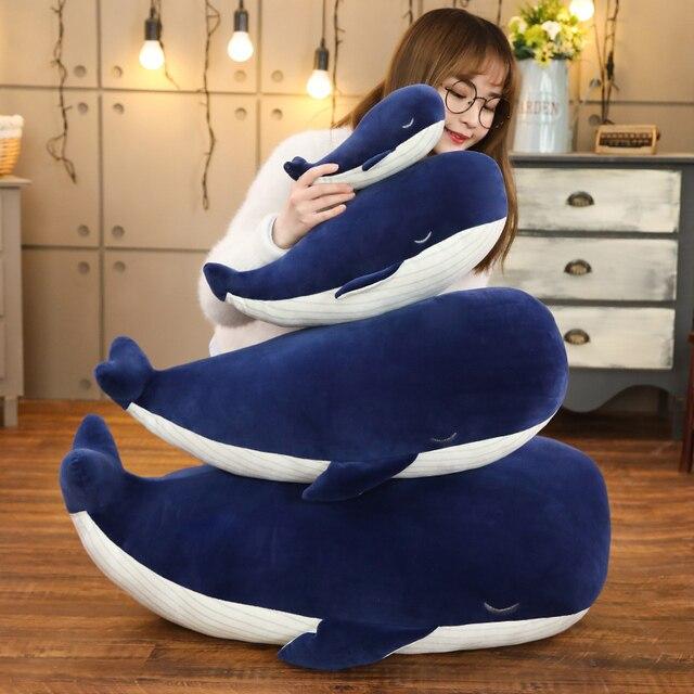 Cuddly Whale Plush Toy Dark Blue Aquatic Animals Stuffed Toy Huggable Ultra Soft Animal Plushie Kids Boys Girls Gift 1