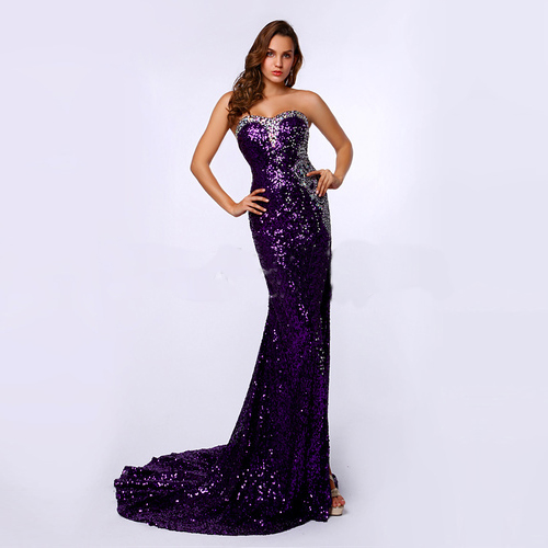 Popular Dark Purple Sequin Dress-Buy Cheap Dark Purple Sequin ...
