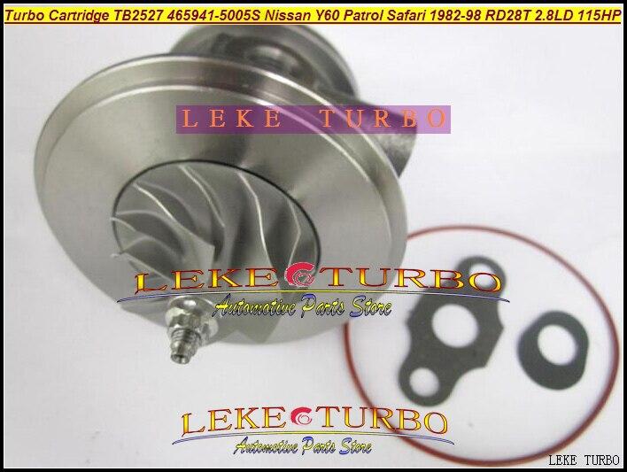 Turbo Cartridge CHRA TB2527 465941 452022 465941-0005 14411-22J01 14411-22J00 14411-22J02 1441122J00 For NISSAN Patrol Y60 RD28T gt1752s turbo cartridge 701196 5007s 701196 chra core 14411 vb300 14411 vb301 chra for nissan patrol 2 8 td 129 hp rd28ti y61