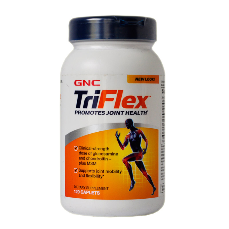 TriFlex promotes joint health glucosamine and chondroitin-plus MSM 120 pcs glucosamine chondroitin and hyaluronic acid joint supplement 360 count