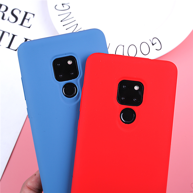 Image 4 - Original Liquid Silicone Case For Huawei P20 Lite Cover Plain Clear Bumper For Huawei Mate 20 Lite P20 Pro P30 Pro Capa Coques-in Fitted Cases from Cellphones & Telecommunications