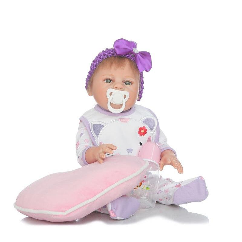 50 Cm Realista Silicone De Corpo Inteiro Boneca Reborn Baby