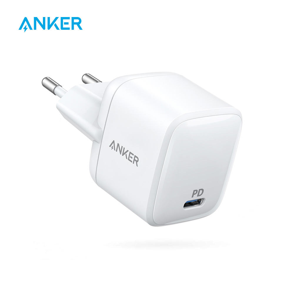 Chargeur mural Anker 30 W Ultra Compact type-c avec alimentation, PowerPort Atom PD 1 pour iPhone Xs/Max/XR, iPad, MacBook, Galaxy etc.