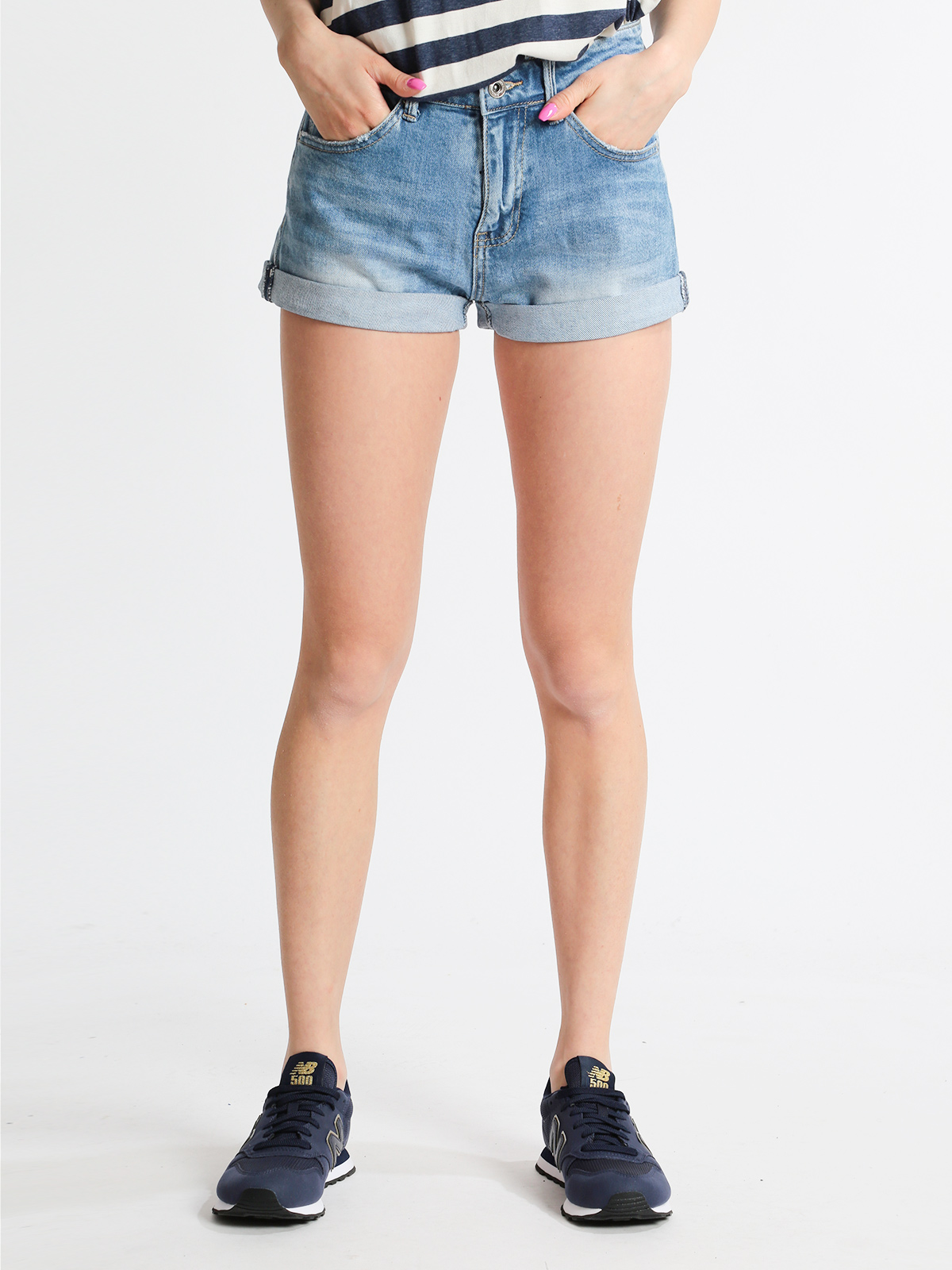 Shorts Jeans With Lapels