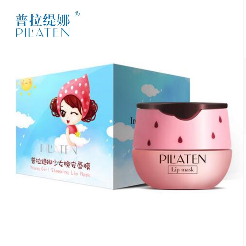 Pilaten Young Girl Sleep Lip Mask Pink Strawberry Aroma Diminish Lips Lines Lasting Moisturizing bioaqua labios holika holika